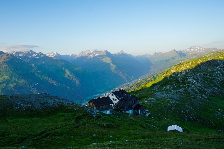 Leutkircher Hütte, Lechtal Alps, Austria - Eagle Walk