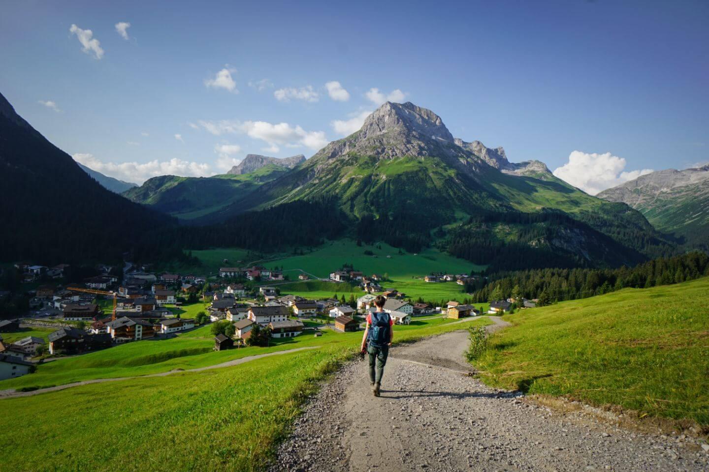 Oberlech to Lech am Arlberg, Vorarlberg, Austria