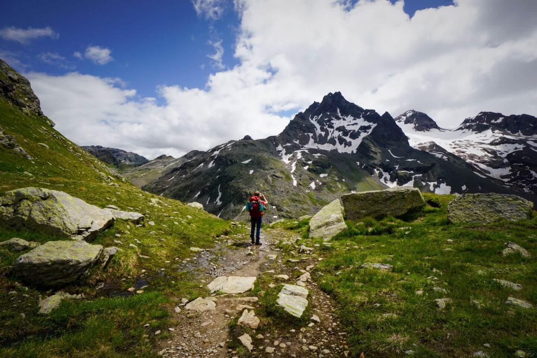 Silvretta Peaks, Montafon Trekking Route, Vorarlberg, Austria