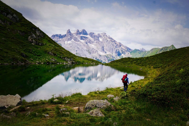 Tobelsee mit drei Türme, Rätikon, Vorarlberg