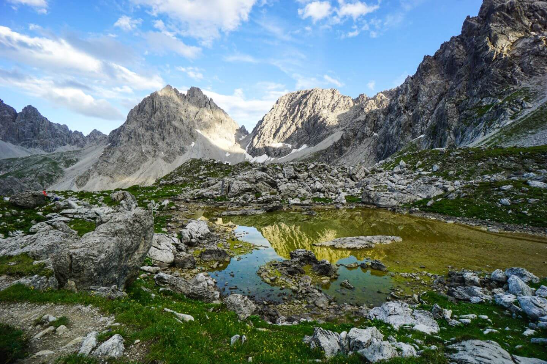 Unterer Parzinnsee, Lechtal Alps, Eagle Walk Trek, Austria