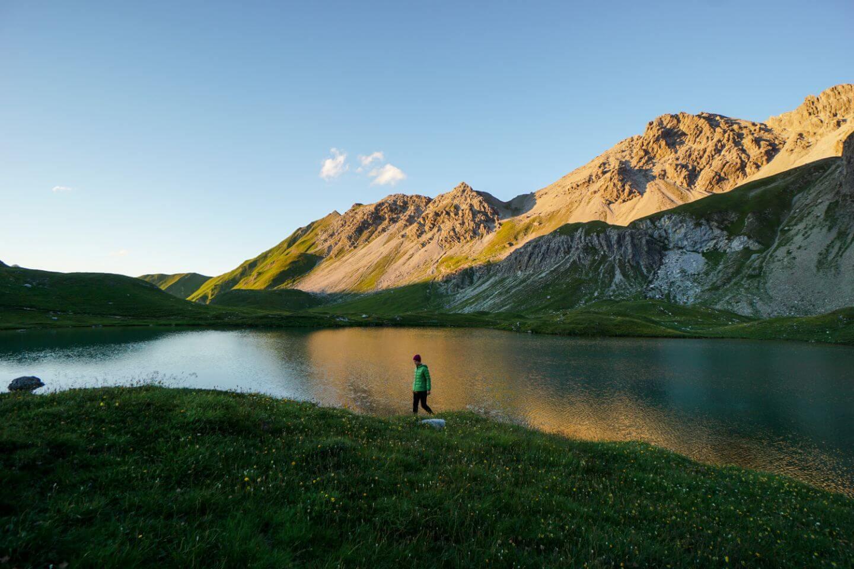 Unterer Seewisee, Lechtal Alps, Tirol, Eagle Walk