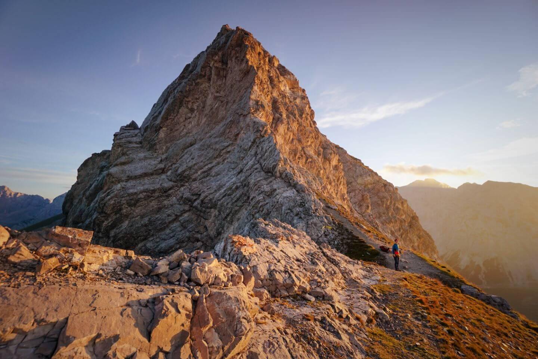 Mandlscharte, Karwendel High Trail, Karwendel Mountains, Tirol, Austria