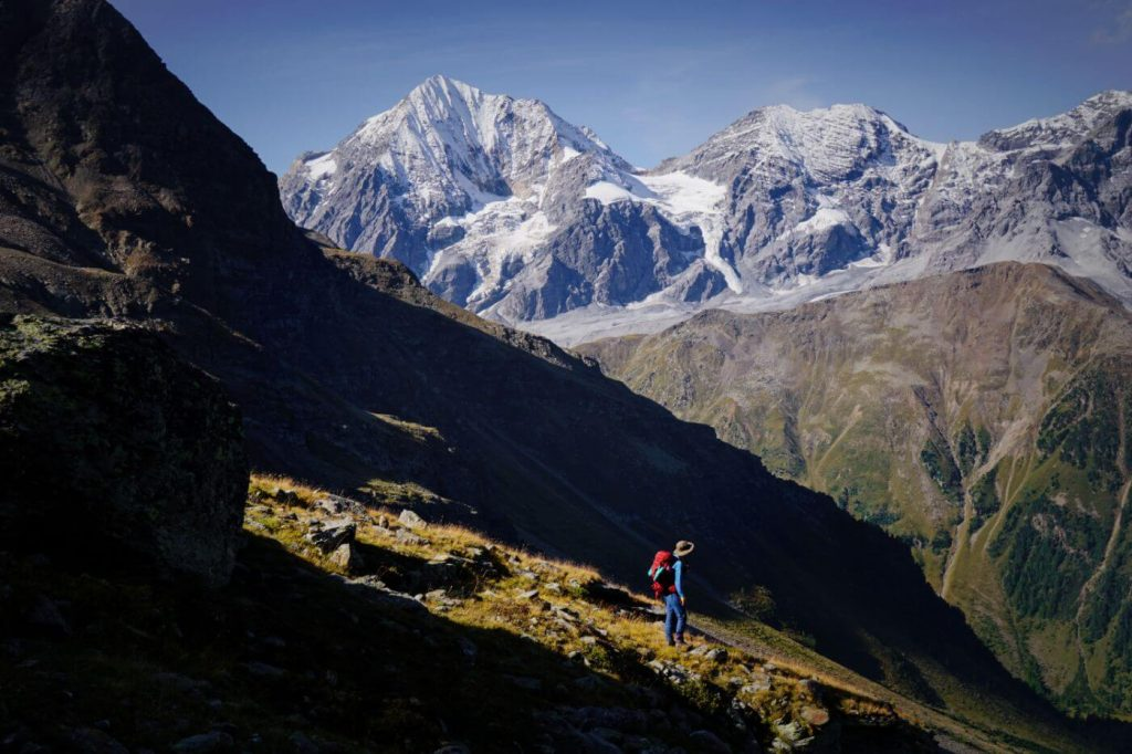 Ortler High Mountain Trail, Stelvio National Park, Italian Alps