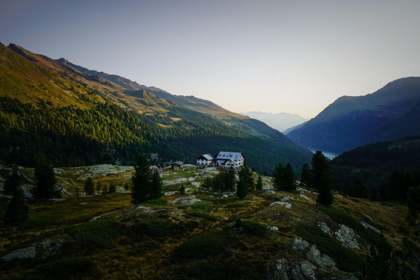 Zufallhütte, Martell Valley, Italian Alps, Val Venosta