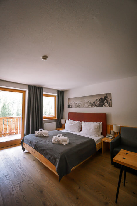 Hotel Dolomitenhof Bedroom, Dolomites