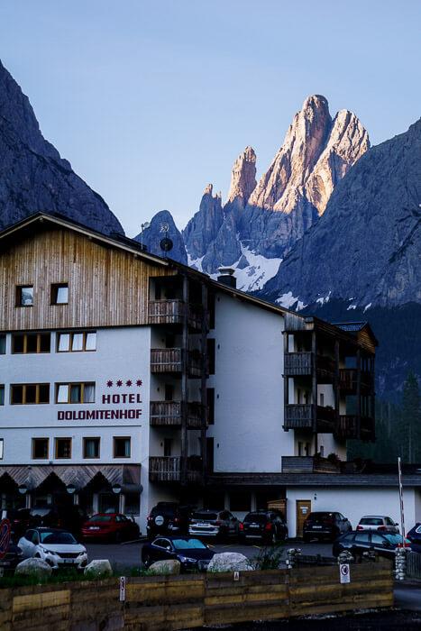 Hotel Dolomitenhof and Zwölferkofel/Croda di Toni, Sesto Dolomites