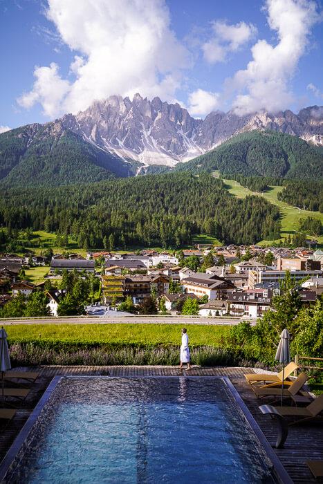 Naturhotel Leitlhof Pool, San Candido, Dolomites