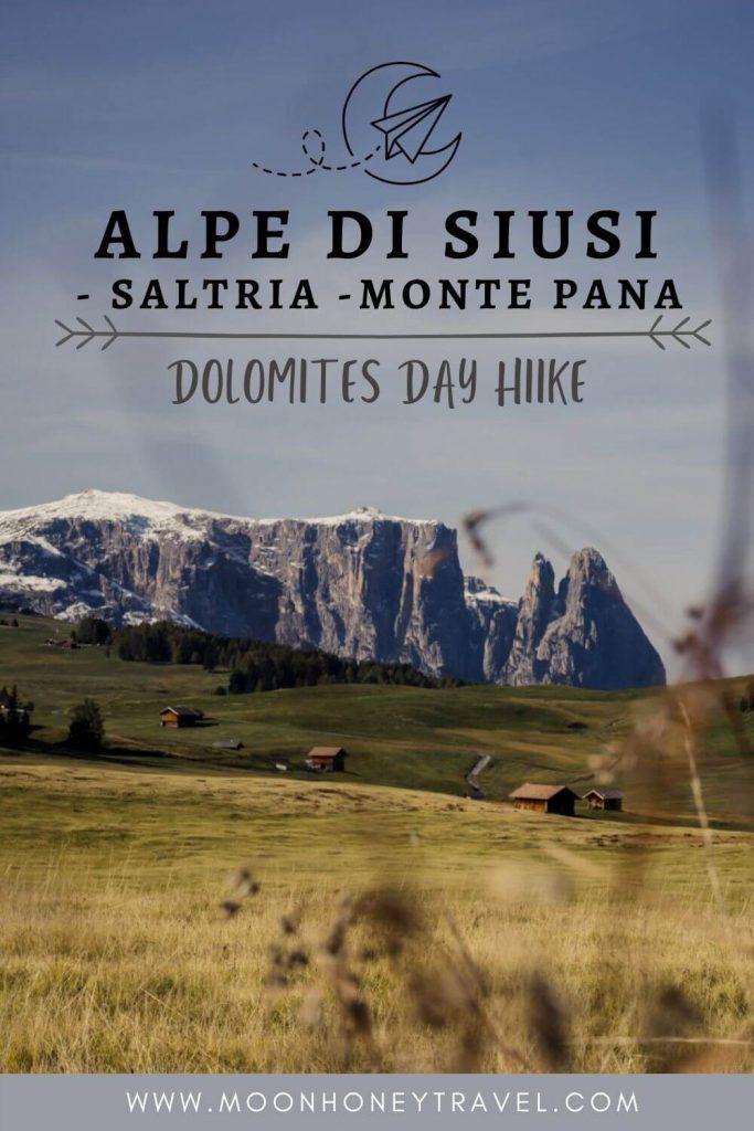 Easy hike on Alpe di Siusi, Italian Dolomites