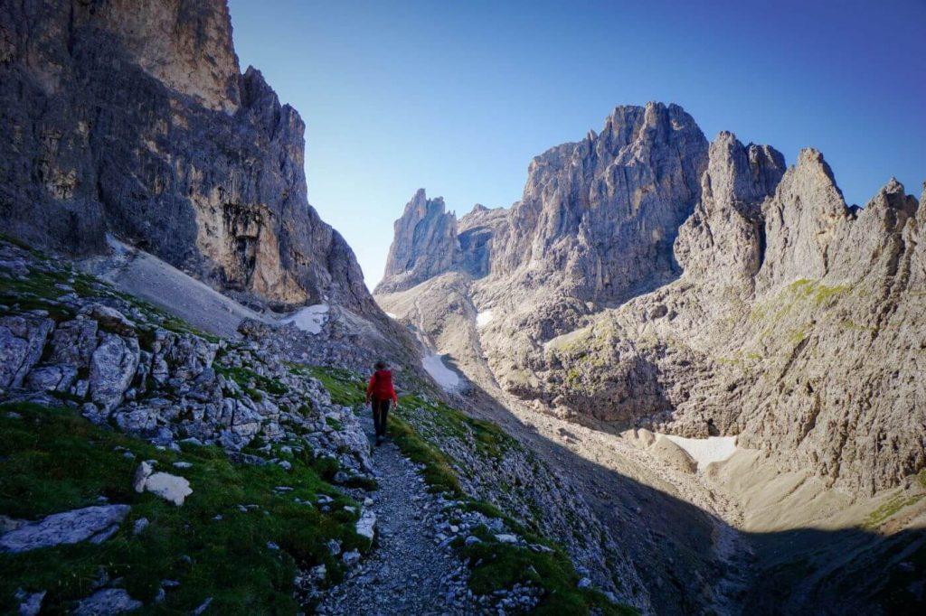 Trail 715, Rifugio Rosetta to Passo di Ball