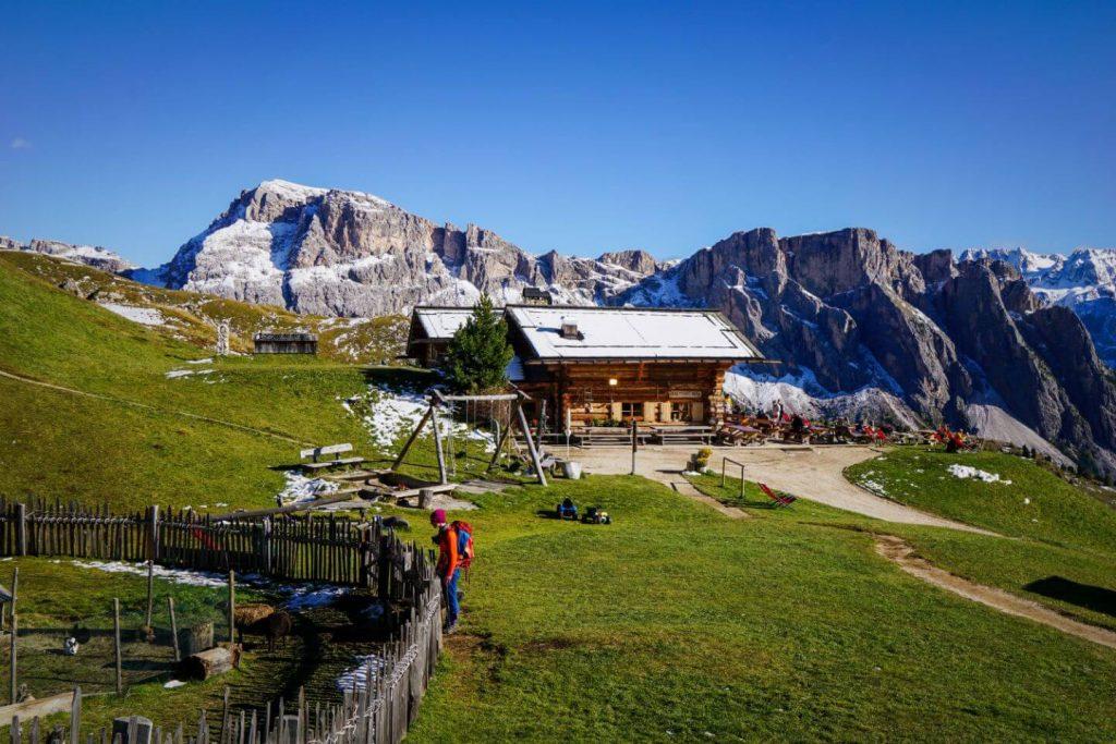 Baita Troier, Val Gardena Dolomites Hike