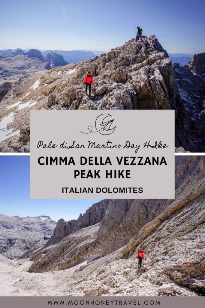 Climbing to Cima della Vezzana, Pale di San Martino
