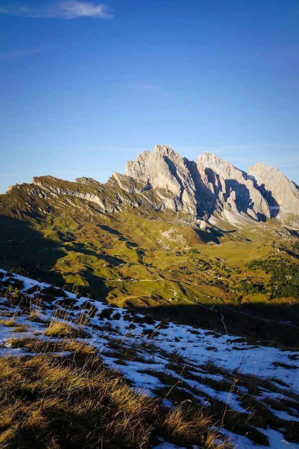 Geisler Group, Val Gardena, Dolomites in October