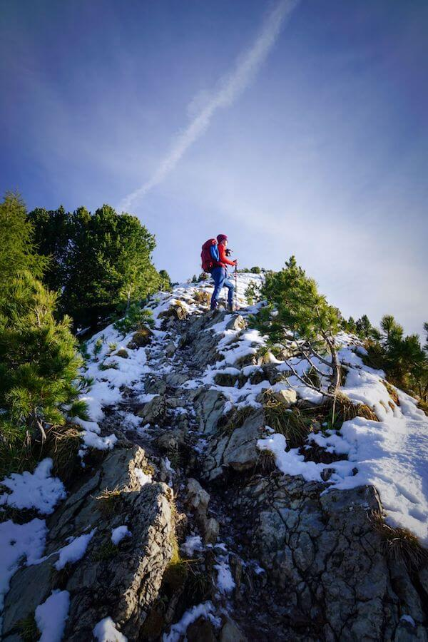 Hiking to Monte Pic, Trail 6, Val Gardena