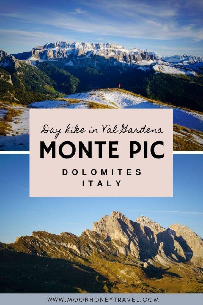 Monte Pic, Day Hike in Val Gardena, Dolomites