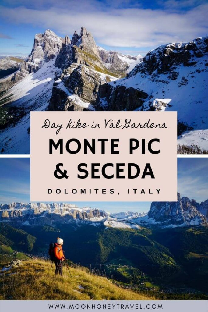 Day Hike to Monte Pic and Seceda, Val Gardena, Dolomites