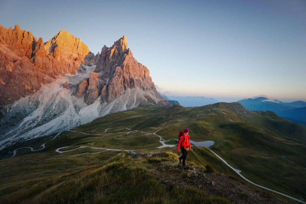 Sunset, Northern Faces of Pale di San Martino