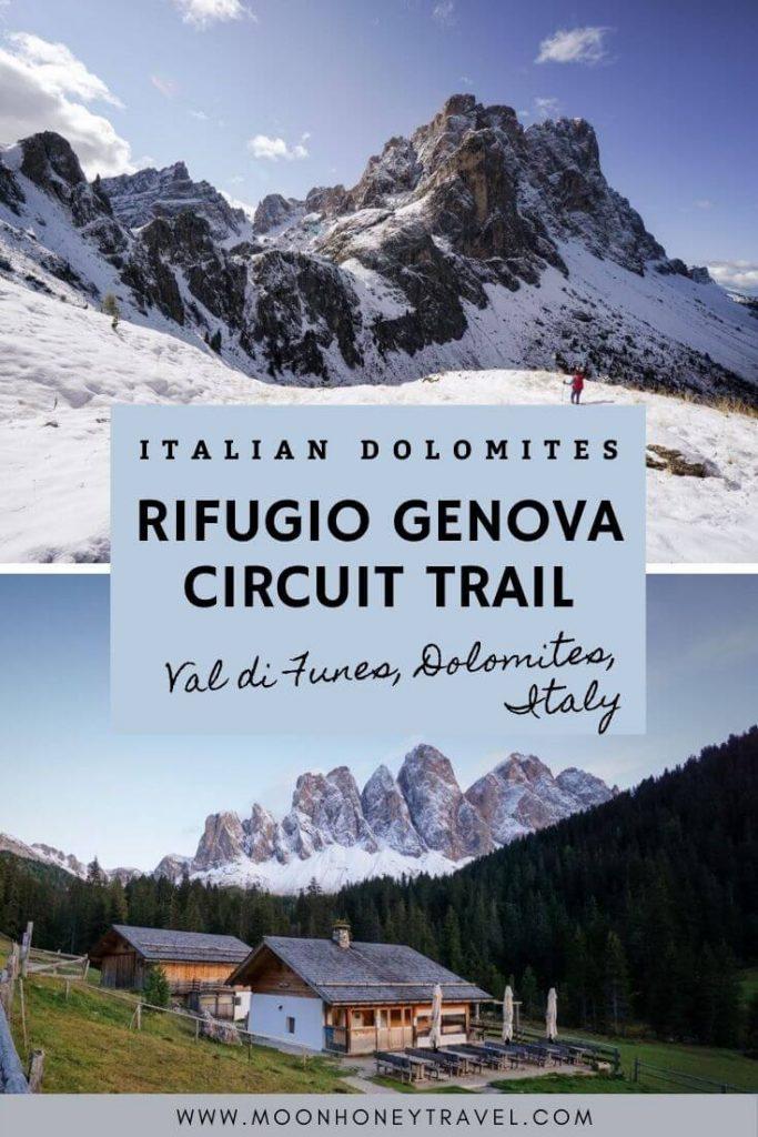 Rifugio Genova Circuit Hike, Val di Funes, Dolomites