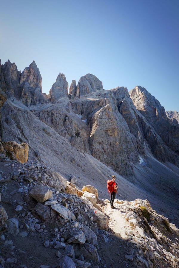 Val Venegia to Passo Mulaz, Pale di San Martino Dolomites Day Hike