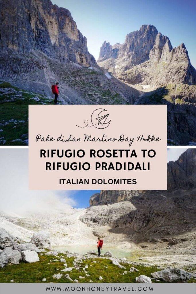 Rifugio Rosetta to Rifugio Pradidali Loop Trail, Italian Dolomites