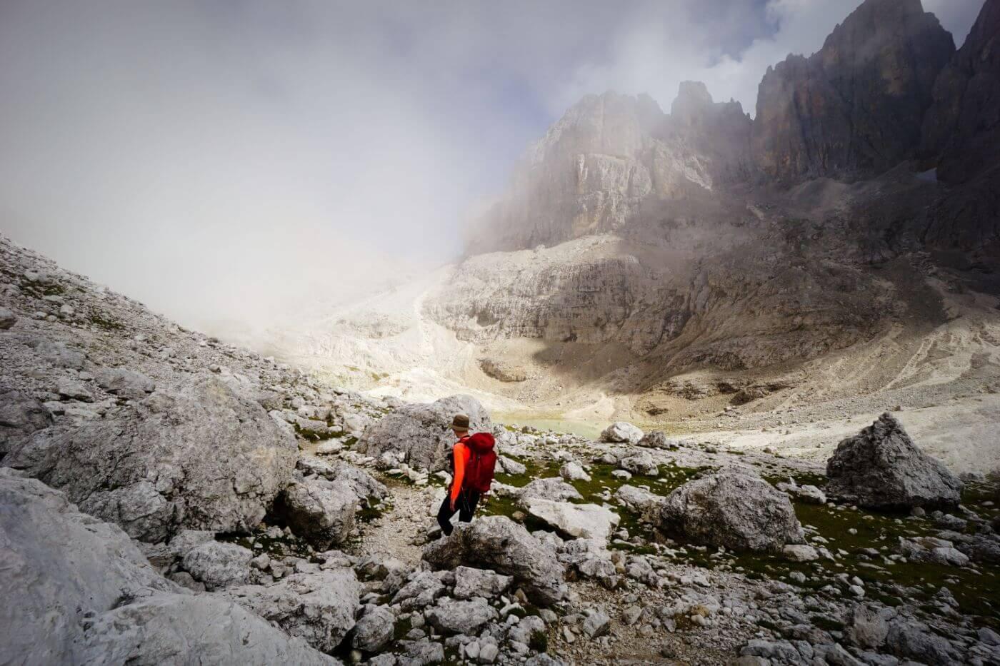 Rosetta Cableway, San Martino di Castrozza, Dolomites in September