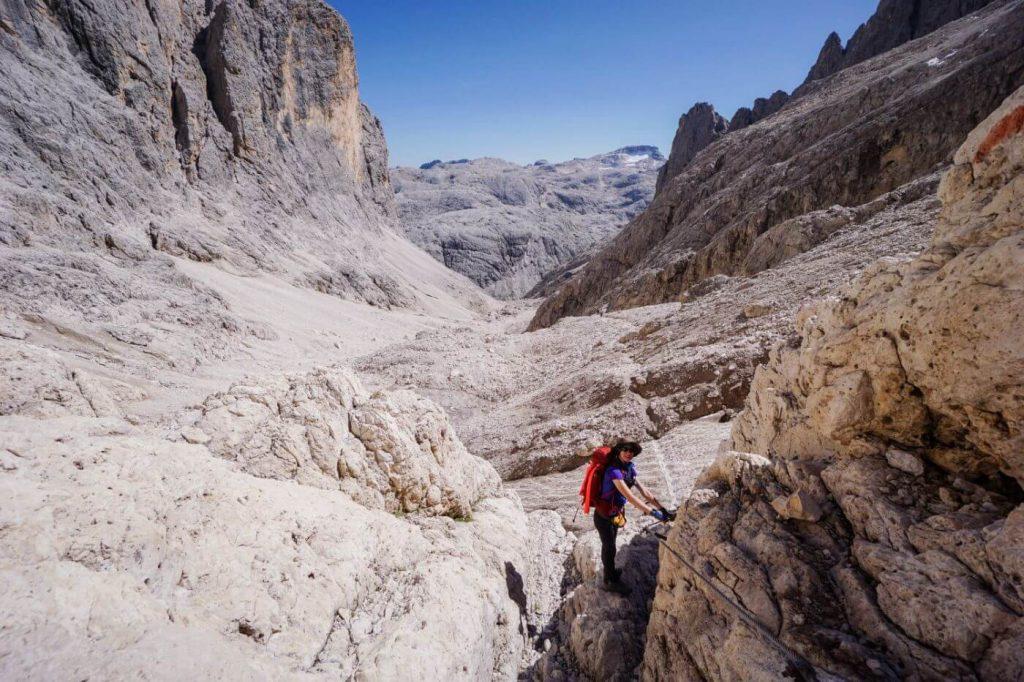 Ascending Valle dei Cantoni, Pale di San Martino