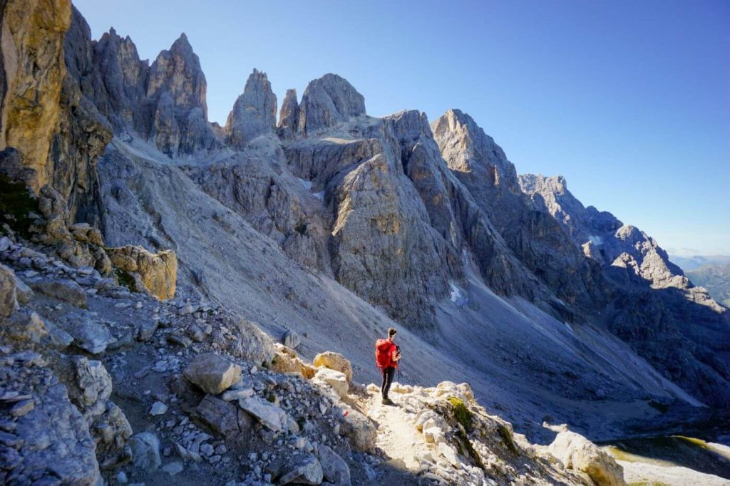 Trail 720, Val Venegia to Passo Mulaz Hike, Pale di San Martino