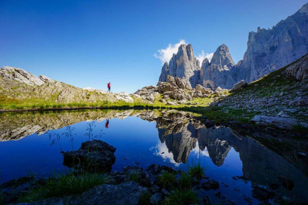 Trail 751, Pale di San Martino, Alpine Lake