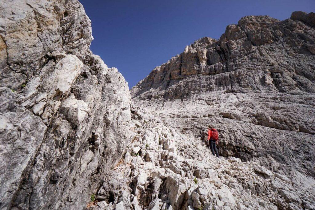 Ascending to Passo del Travignolo, Pale di San Martino