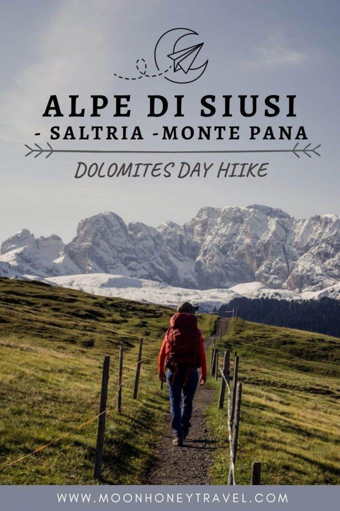 Hiking Alpe di Siusi to Monte Pana, Dolomites