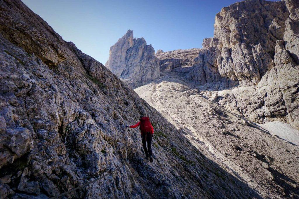 Trail 715, Hike to Passo di Ball, Pale di San Martino, Dolomites