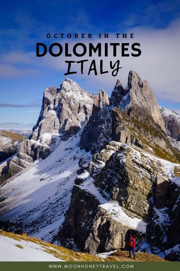 Hiking in the Dolomites in October, Italy