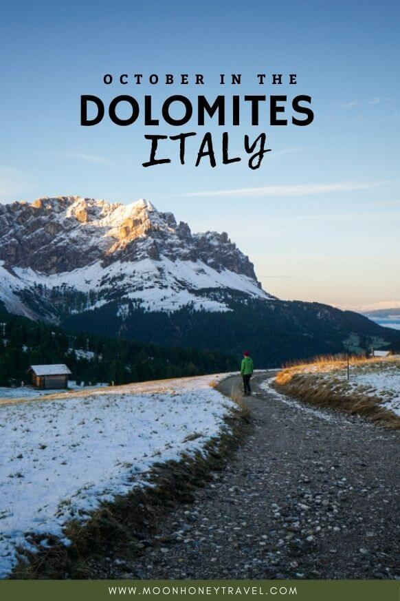 Visiting the Dolomites in October, Italy