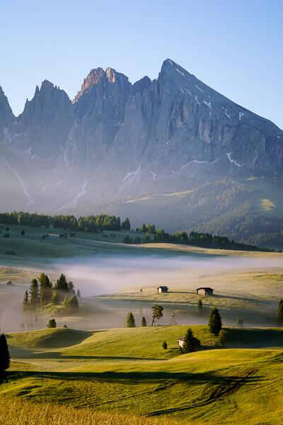 Alpe di Siusi, Seiser Alm, Rolling Meadows, Dolomites, Italy