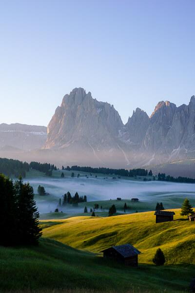 Alpe di Siusi Sunrise, Sassolungo, Dolomites