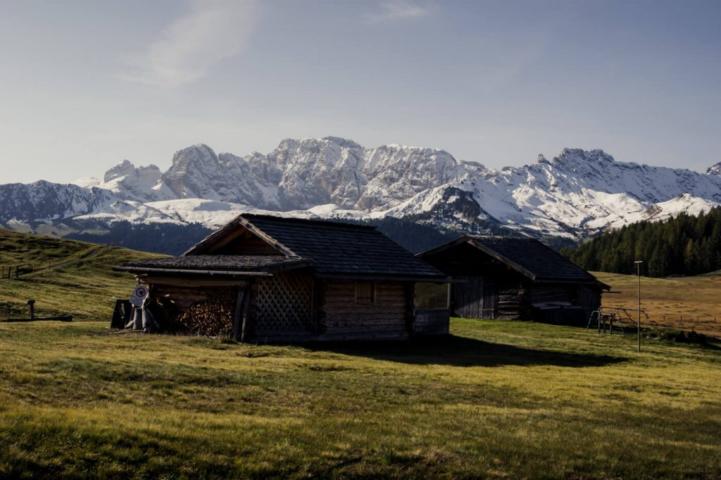 Alpe di Siusi and Catinaccio Mountains, Italy