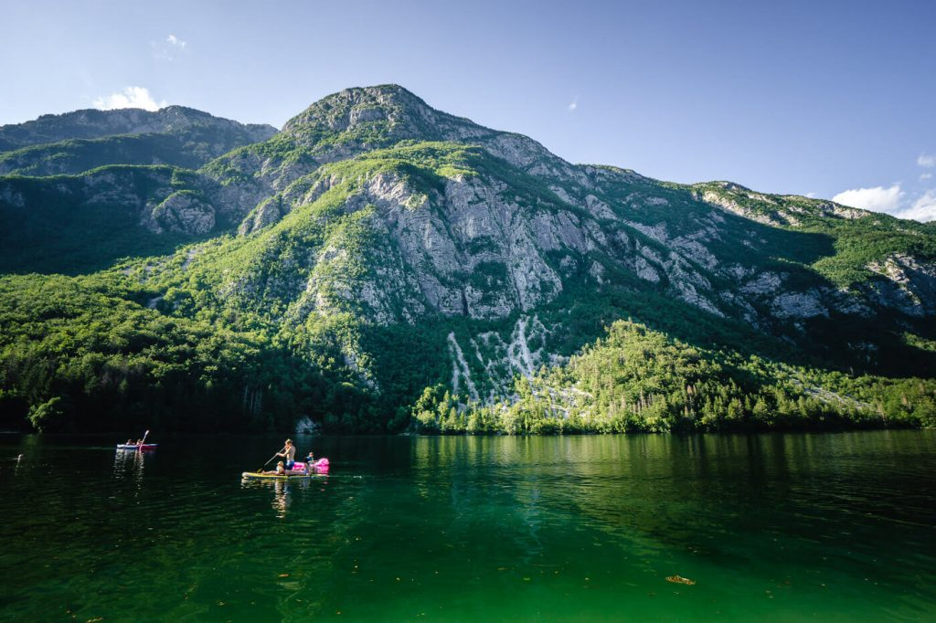 Lake Bohinj in Summer, Slovenia