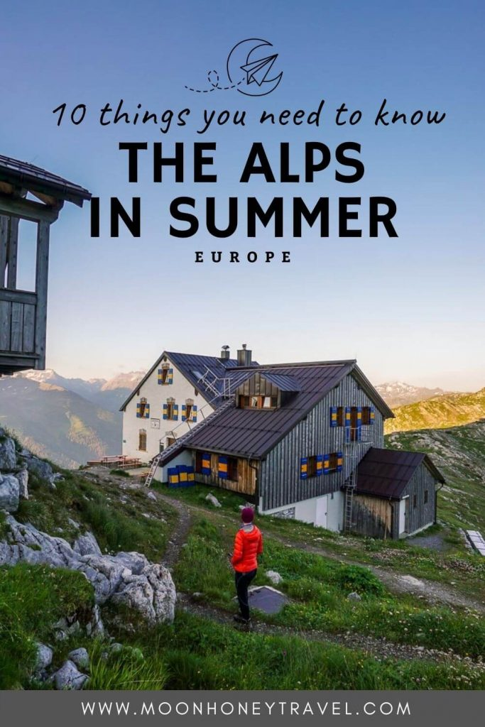 Visiting the Alps in Summer