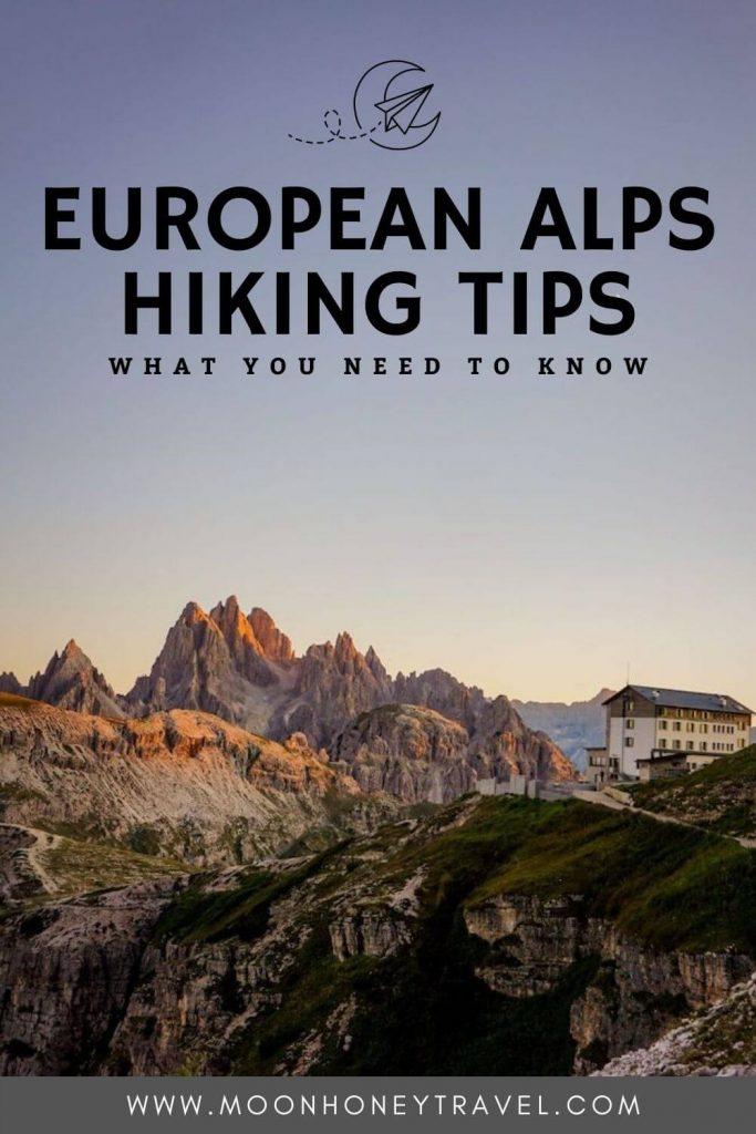 European Alps Hiking Tips