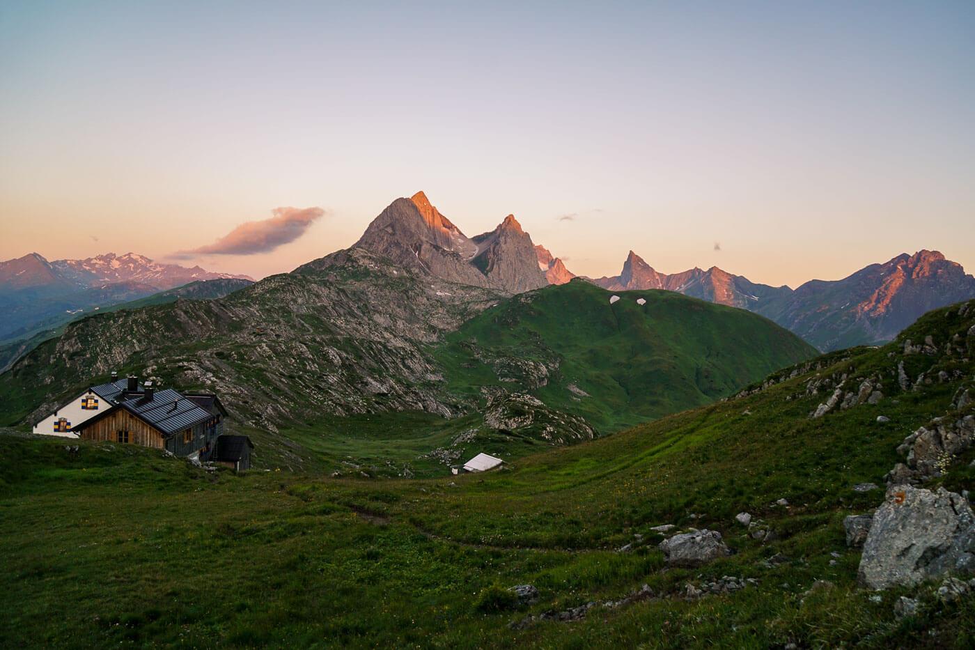 Leutkircher Hütte, Eagle Walk, Lechtal Alps, Tirol, Austria