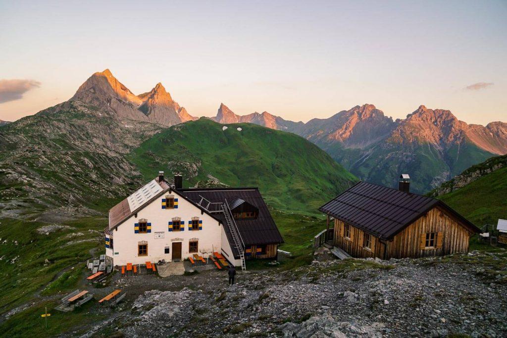 Leutkircher Hütte, Eagle Walk, Lechtal Alps, Hut to Hut Hiking Austria