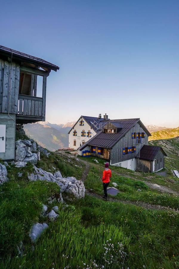 Leutkircher Hütte, Lechtal Alps, Austria