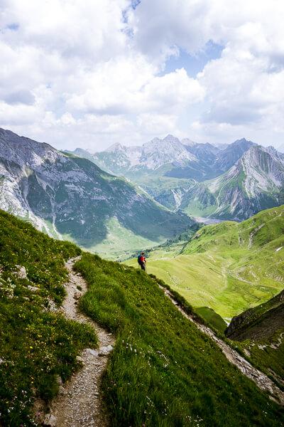 Wanderung Formarinsee zum Spullersee, Lech am Arlberg Tagestour