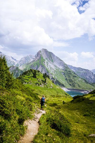 Wanderung zum Spullersee, Lechquellengebirge