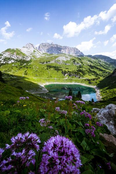 Formarinsee, Lech am Arlberg, Austria in Summer