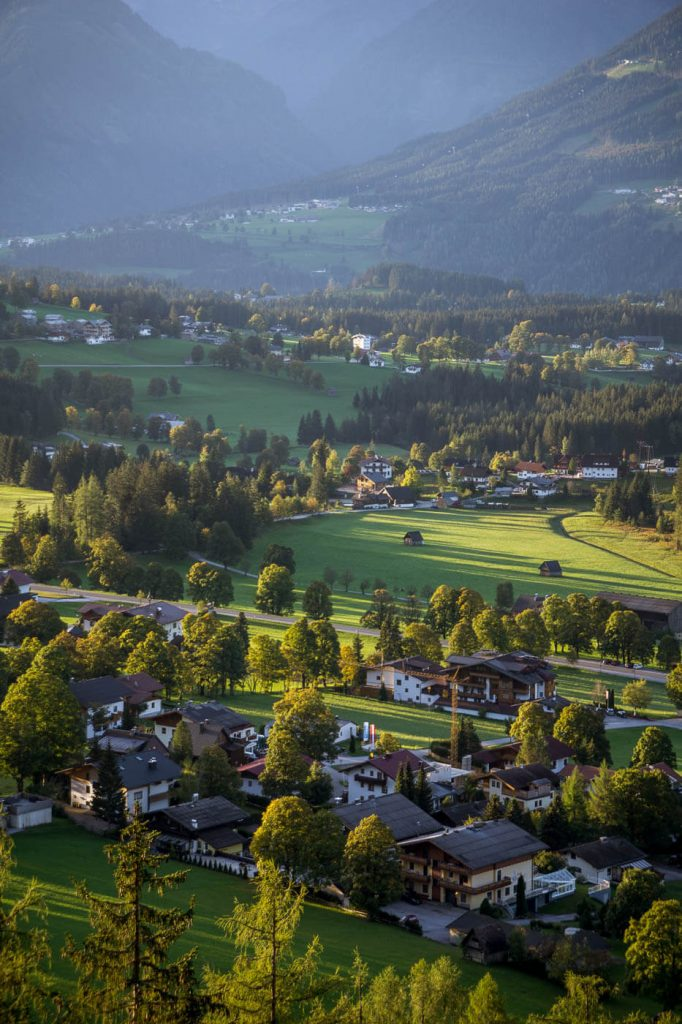 Ausblick auf Ramsau am Dachstein, Steiermark, Österreich