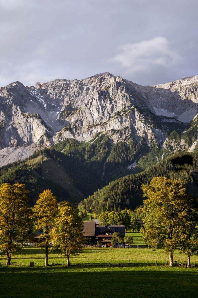 Herbst in Ramsau am Dachstein, Österreich