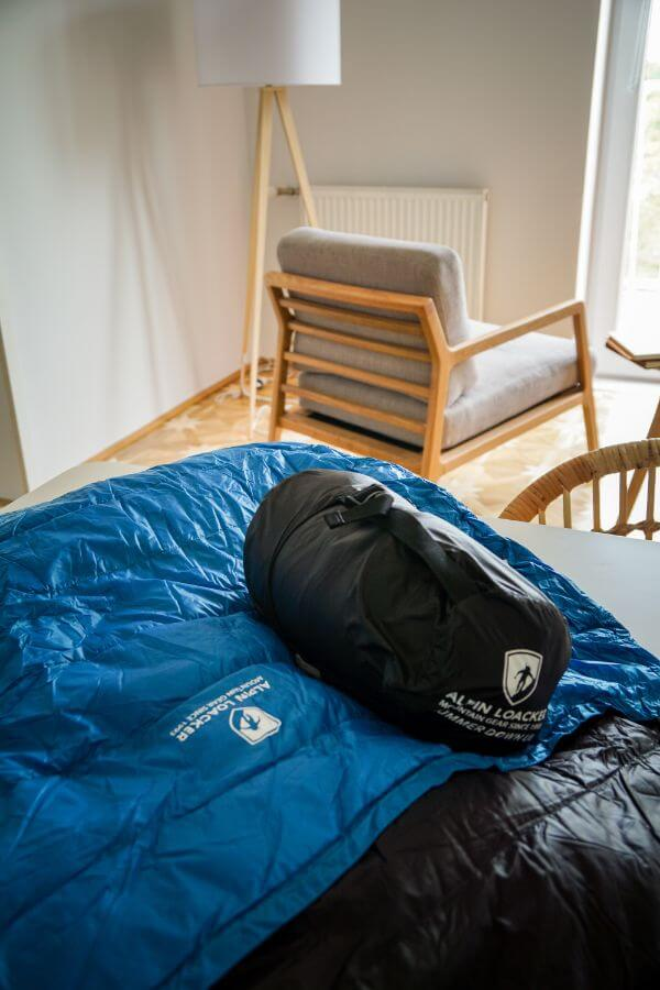 Alpin Loacker Lightweight Sleeping Bag for mountain huts