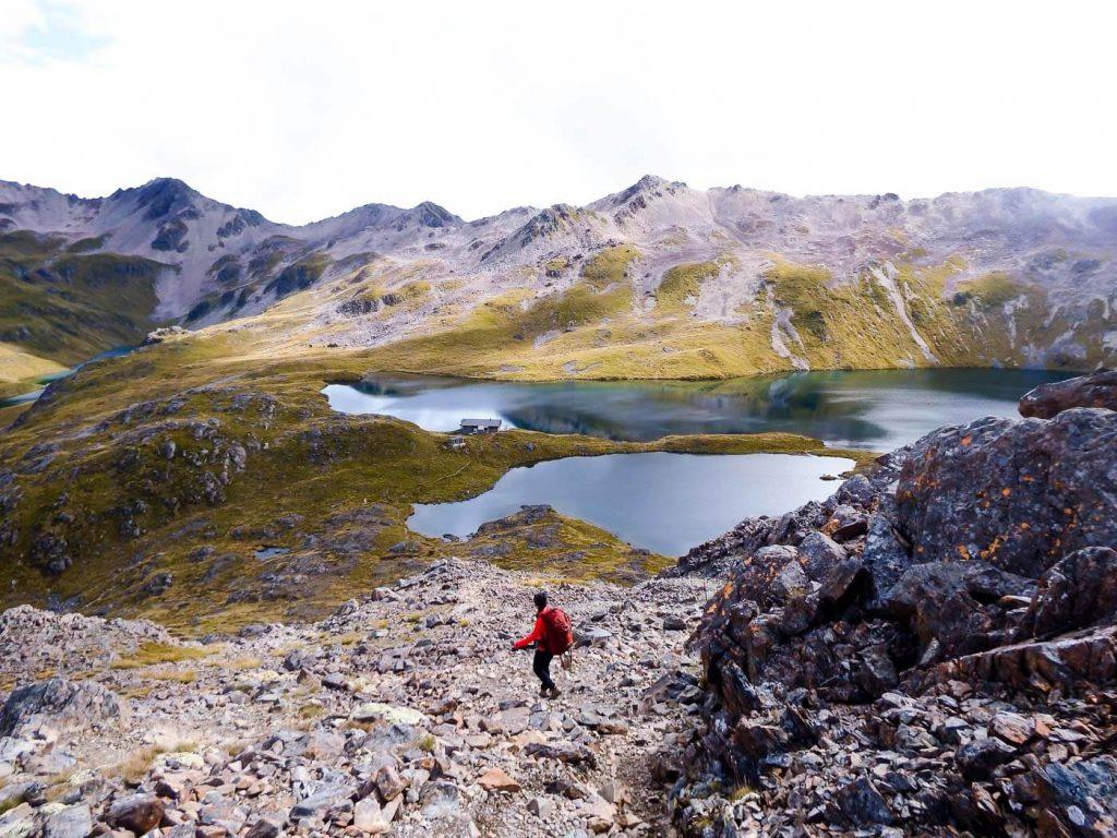 Hiking to Angelus Hut, New Zealand