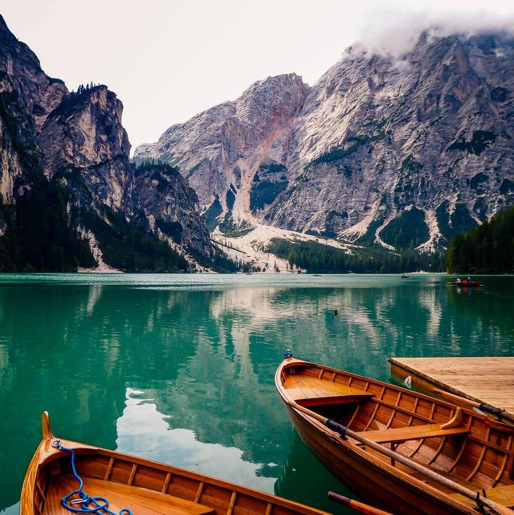 Lago di Braies Wooden Rowboats, Italy